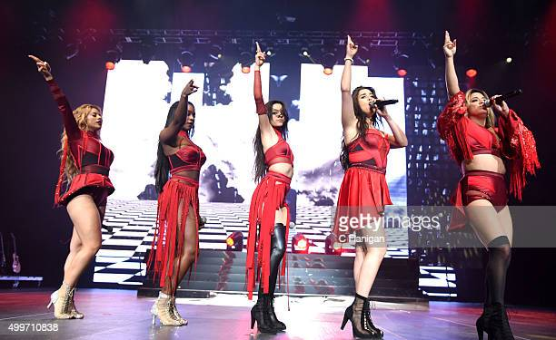 Singers DinahJane Hansen Normani Hamilton Ally Brooke Camila Cabello and Lauren Jauregui of Fifth Harmony perform during the 6th Annual 997 NOW...