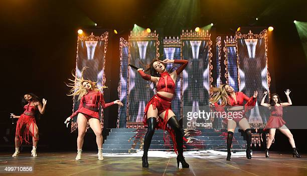 Singers Dinah-Jane Hansen, Normani Hamilton, Ally Brooke, Camila Cabello and Lauren Jauregui of Fifth Harmony perform during the 6th Annual 99.7 NOW!...