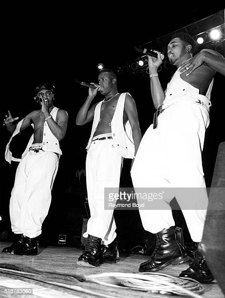 Dino GI and Shazam from HTown performs at the International Amphitheatre in Chicago Illinois in 1993
