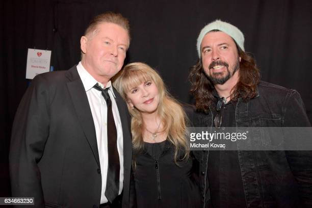 Singers Don Henley Stevie Nicks and Dave Grohl attend MusiCares Person of the Year honoring Tom Petty at the Los Angeles Convention Center on...
