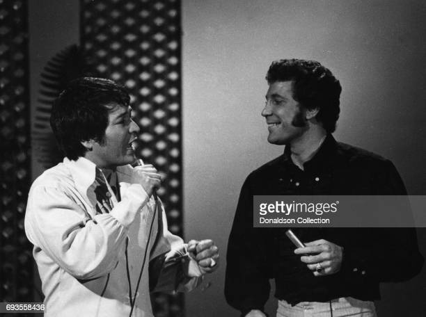 Singers Don Ho and Tom Jones perform on 'This Is Tom Jones' TV show in circa 1970 in Los Angeles California