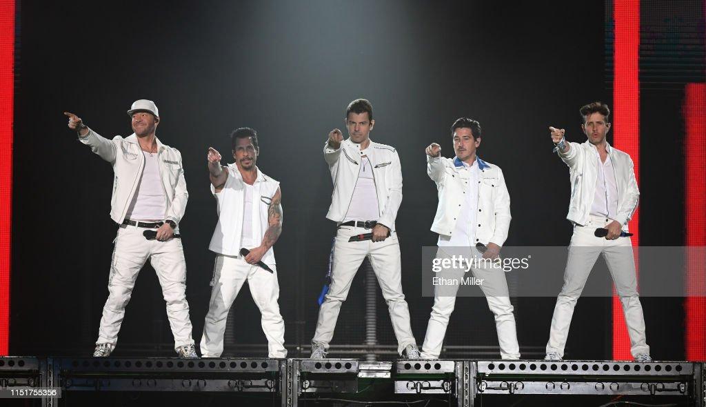 New Kids On The Block In Concert - Las Vegas, NV : News Photo