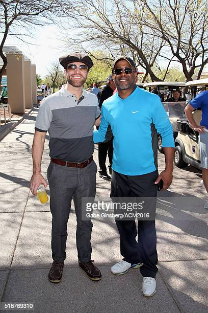 Singers Drake White and Darius Rucker attend the 2016 ACM Lifting Lives Golf Classic presented by G Debbas Chocolatier and Cocoa Crate at the TPC...