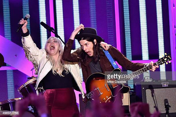 Singers Elle King and James Bay perform onstage during the VH1 Big Music in 2015 You Oughta Know Concert at The Armory Foundation on November 12 2015...