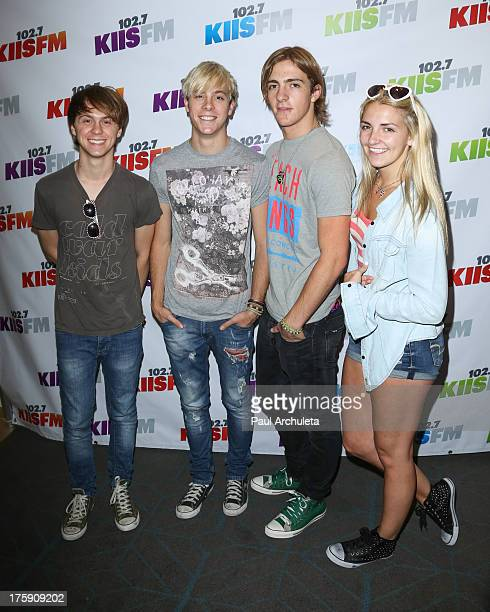 Singers Ellington Ratliff Lynch, Riker Lynch, Rocky Lynch and Rydel Lynch of the band R5 attends the 102.7 KIIS-FM's Teen Choice Awards pre-party at...