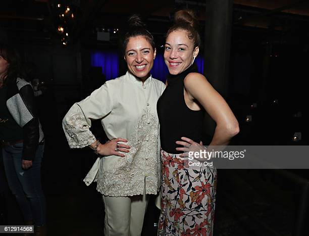 Singers Emily King and Kendra Foster attend 'Up Close Personal with Benny Blanco' at Subculture NYC on October 5 2016 in New York City