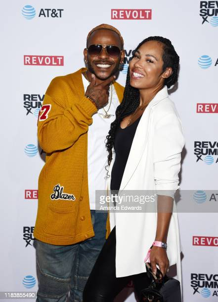 Singers Eric Bellinger and La'Myia Good attend the REVOLT and ATT Summit on October 27 2019 in Los Angeles California