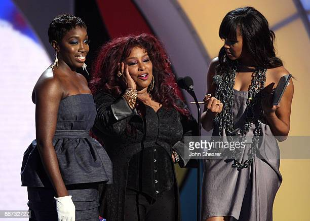 Singers Estelle Chaka Khan and Le Toya Luckett onstage at the 2009 BET Awards at the Shrine Auditorium on June 28 2009 in Los Angeles California