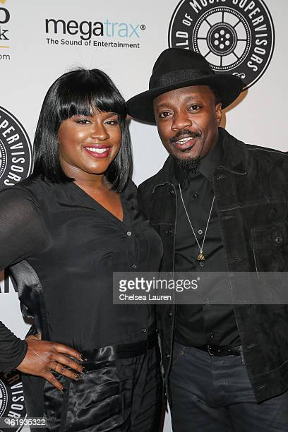 Singers Ester Dean and Anthony Hamilton arrive at the 5th Annual Guild of Music Supervisors Awards at Mack Sennett Studios on January 21 2015 in Los...