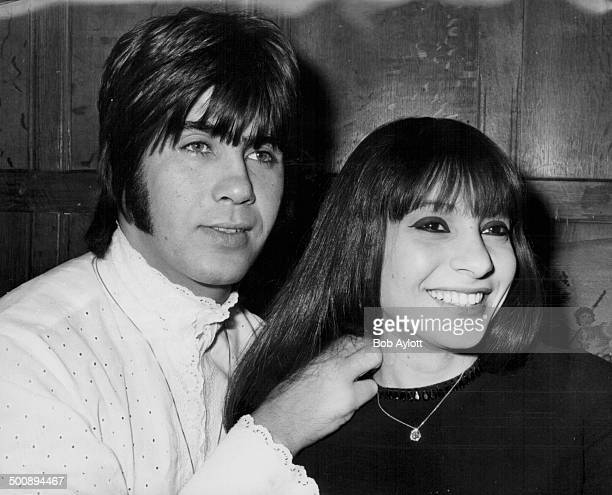 Singers Esther and Abi Ofarim pictured with Esther's new £3000 necklace a birthday present from Abi June 13th 1968