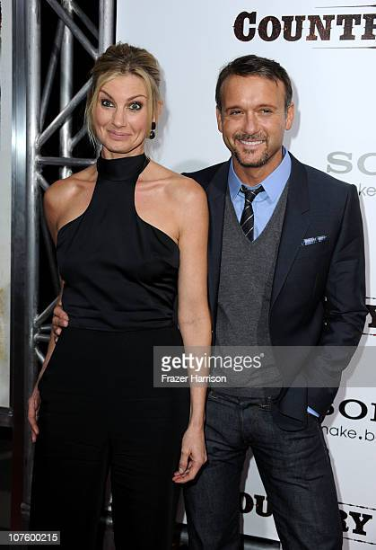 Singers Faith Hill and Tim McGraw arrive at the screening of Screen Gems' 'Country Strong' at The Academy of Motion Picture Arts Sciences on December...