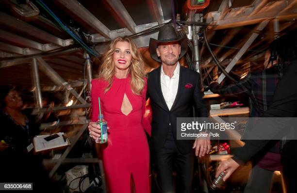 Singers Faith Hill and Tim McGraw attend The 59th GRAMMY Awards at STAPLES Center on February 12 2017 in Los Angeles California
