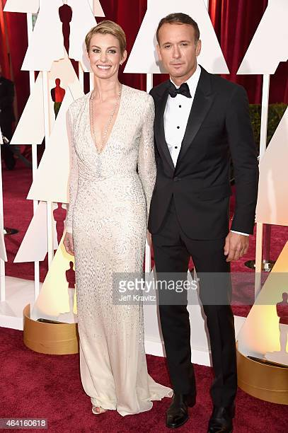 Singers Faith Hill and Tim McGraw attend the 87th Annual Academy Awards at Hollywood Highland Center on February 22 2015 in Hollywood California