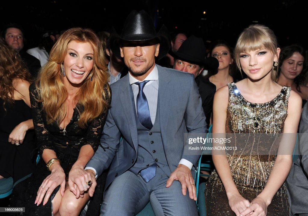Singers Faith Hill, Tim McGraw, and Taylor Swift attend the 48th Annual Academy of Country Music Awards at the MGM Grand Garden Arena on April 7, 2013 in Las Vegas, Nevada.