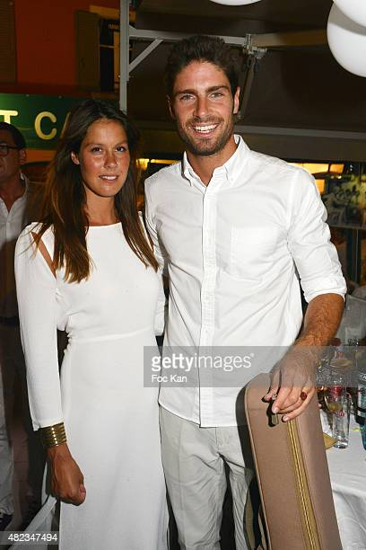 Singers Fanny Leeb and Tom Leeb attend the Saint Tropez Tribute To Eddie Barclay Place Des Lices Saint Tropez on July 29 2015 in SaintTropez France