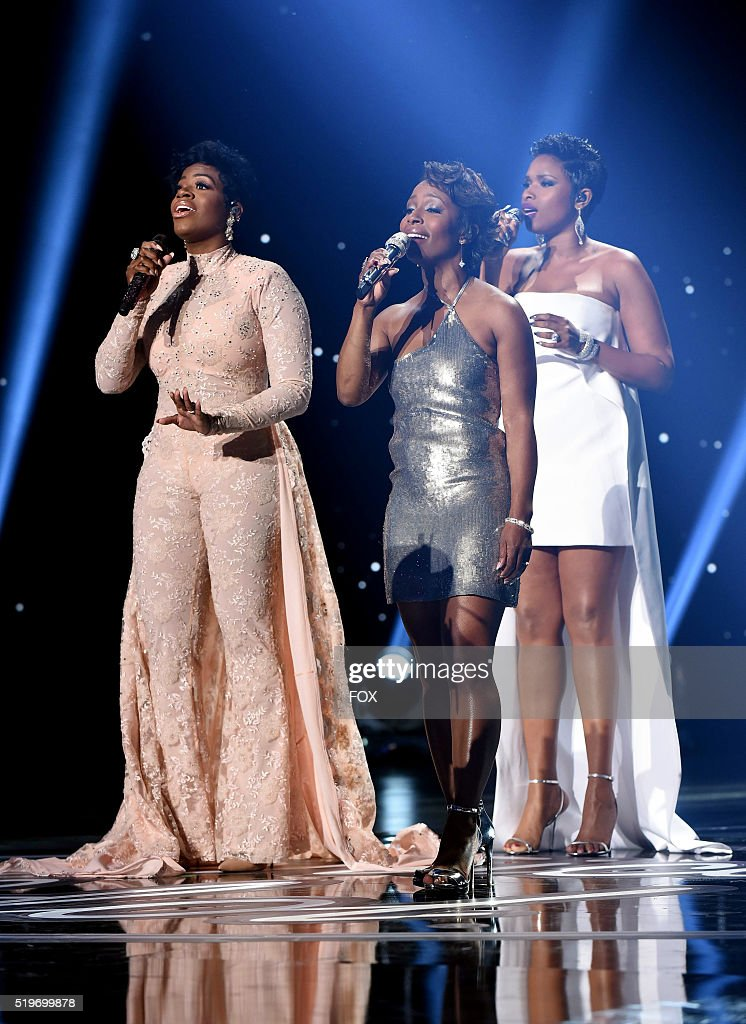 Singers Fantasia Barrino, LaToya London and Jennifer Hudson perform onstage at FOX's American Idol Season 15 Finale on April 7, 2016 at the Dolby Theatre in Hollywood, California.