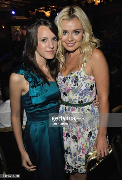 Singers Faryl Smith and Katherine Jenkins attends the O2 Silver Clef Awards 2009 at the London Hilton on July 3 2009 in London England