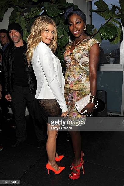 Singers Fergie and Estelle attend SELF Magazine's July Issue Event with Cover Star Fergie at The Hotel on Rivington Penthouse on June 5 2012 in New...