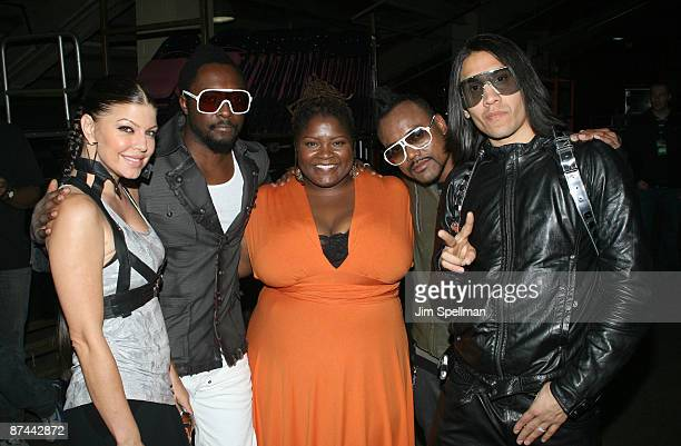 Singers Fergie william of The Black Eyed Peas Z100's Shelly Wade Singers Taboo and apldeap of The Black Eyed Peas attend the Z100s Zootopia 2009...