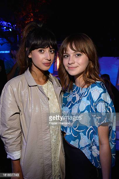 Singers Foxes and Gabrielle Aplin attend British Airways and Variety Celebrate The Inaugural A380 Service Direct from Los Angeles to London and...