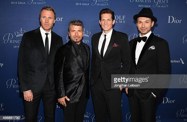 Singers Frazer Walters Remigio Pereira Clifton Murray and Victor Micallef of The Tenors attend the 2014 Princess Grace Awards Gala with presenting...