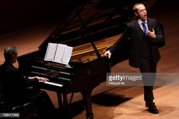 Singers from the Juilliard School, accompanied by Brian Zeger on piano, performing the songs of Hugo Wolf at Alice Tully Hall on Thursday night,...