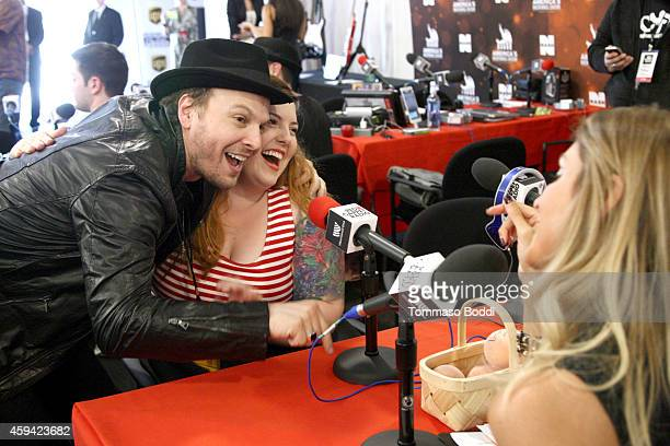Singers Gavin DeGraw and Mary Lambert attend Red Carpet Radio presented by Westwood One at Nokia Theatre LA Live on November 22 2014 in Los Angeles...
