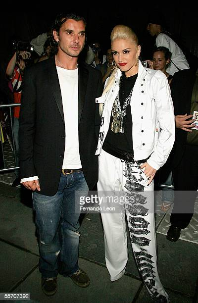 Singers Gavin Rossdale and Gwen Stefani attend day 8 of Olympus Fashion Week Spring 2006 at Bryant Park September 16 2005 in New York City