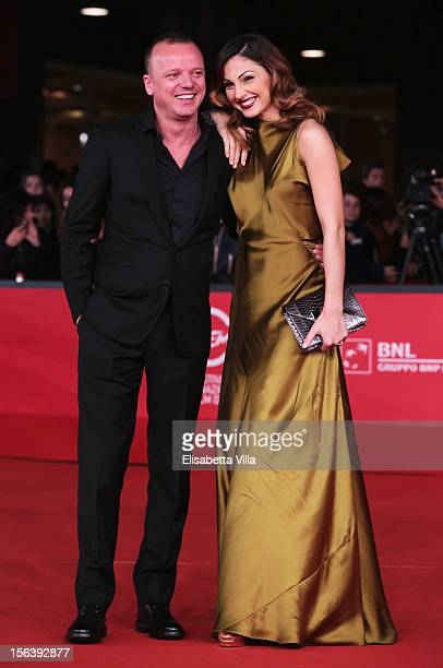 Singers Gigi D'Alessio and Anna Tatangelo attends the 'E La Chiamano Estate' Premiere during the 7th Rome Film Festival at the Auditorium Parco Della...