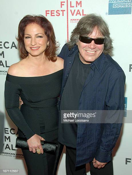 Singers Gloria Estefan and Jose Feliciano attend the Tribeca Film Festival Conversations In Cinema series for 90 Miles the Documentary at the...