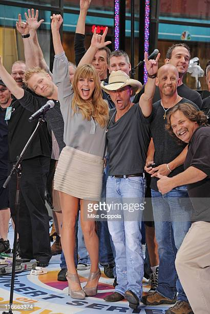 Singers Grace Potter and Kenny Chesney perform at NBC's Today at Rockefeller Center on June 17 2011 in New York City