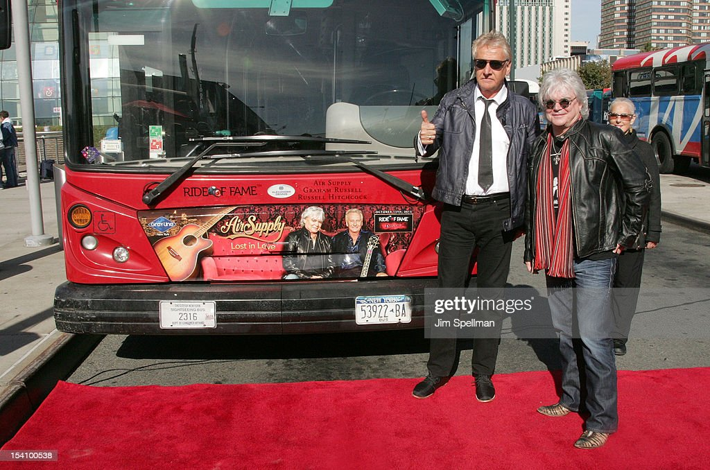 Gray Line New York Ride Of Fame Honors Air Supply : News Photo
