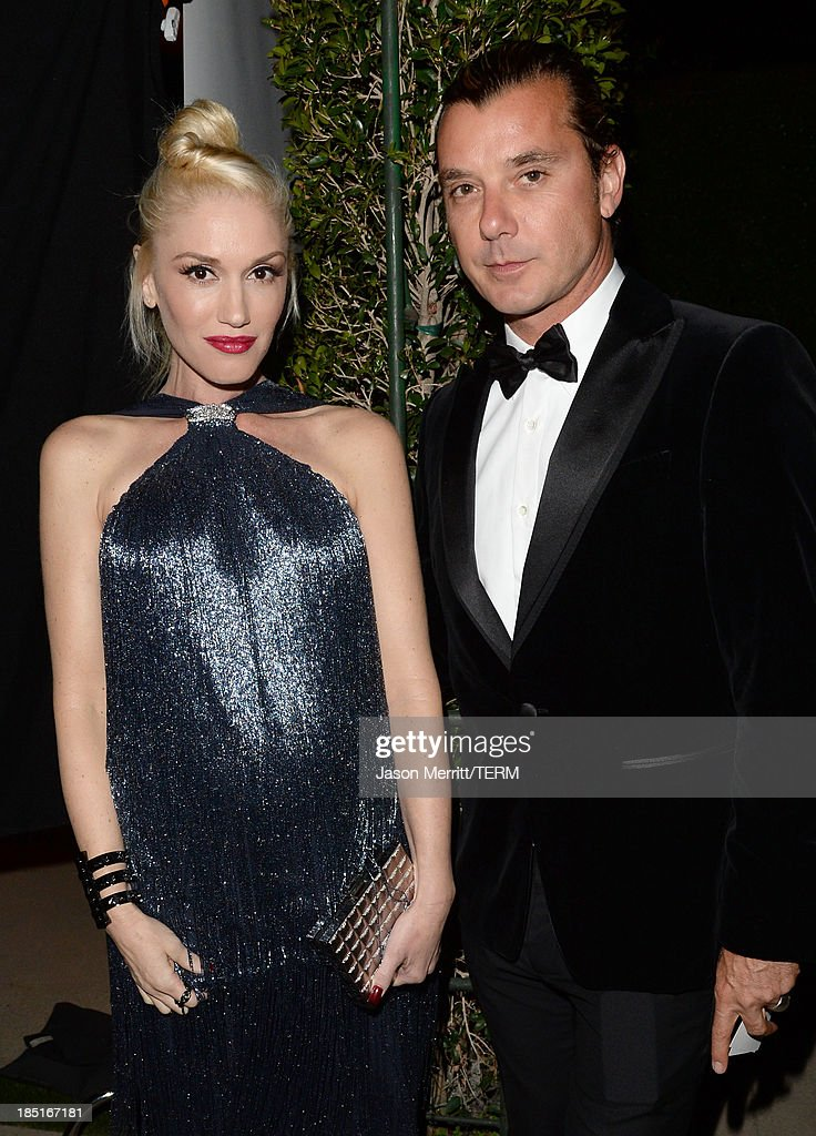 Singers Gwen Stefani and Gavin Rossdale, wearing Ferragamo, arrive at the Wallis Annenberg Center for the Performing Arts Inaugural Gala presented by Salvatore Ferragamo at the Wallis Annenberg Center for the Performing Arts on October 17, 2013 in Beverly Hills, California.