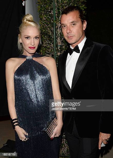 Singers Gwen Stefani and Gavin Rossdale wearing Ferragamo arrive at the Wallis Annenberg Center for the Performing Arts Inaugural Gala presented by...