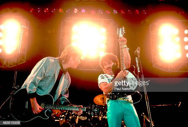 Singers Hall and Oates perform at the Hartford Civi Center in Hartford Connecticut November 1 1984