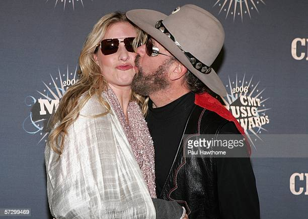 Singers Hank Williams Jr and his daughter Holly Williams arrive at the 2006 CMT Music Awards at the Curb Event Center at Belmont University April 10...