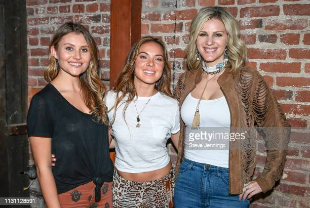 Singers Hannah Mulholland Naomi Cooke and Jennifer Wayne of Runaway June attend Yountville Live at the Barrel Room on March 16 2019 in Yountville...