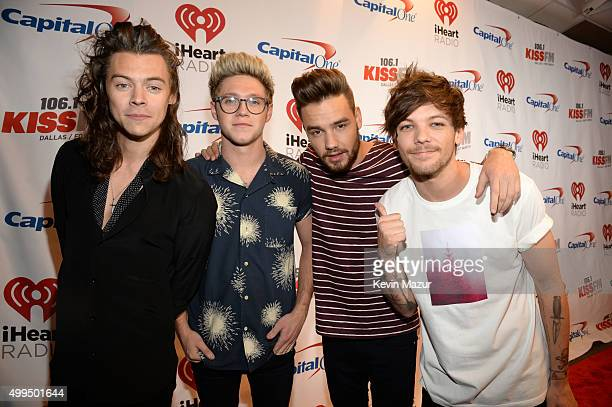 Singers Harry Styles Niall Horan Liam Payne and Louis Tomlinson of musical group One Direction attend 1061 KISS FM's Jingle Ball 2015 presented by...