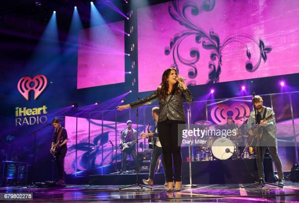 Singers Hillary Scott and Dave Haywood of Lady Antebellum perform onstage during the 2017 iHeartCountry Festival A Music Experience by ATT at The...