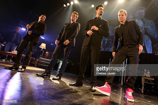 Singers Howie Dorough Nick Carter Kevin Richardson and Brian Littrel of the Backstreet Boys perform onstage during the Second Annual Hilarity For...