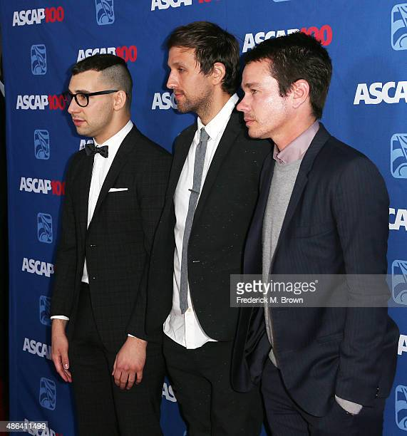 Singers Jack Antonoff Andrew Dost and Nate Reuss attend the 31st Annual ASCAP Pop Music Awards at The Ray Dolby Ballroom at the Hollywood Highland...