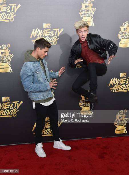 Singers Jack Gilinsky and Jack Johnson attend the 2017 MTV Movie And TV Awards at The Shrine Auditorium on May 7 2017 in Los Angeles California