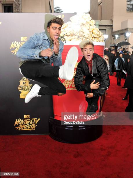 Singers Jack Gilinsky and Jack Johnson of Jack and Jack arrive at the 2017 MTV Movie And TV Awards at The Shrine Auditorium on May 7 2017 in Los...