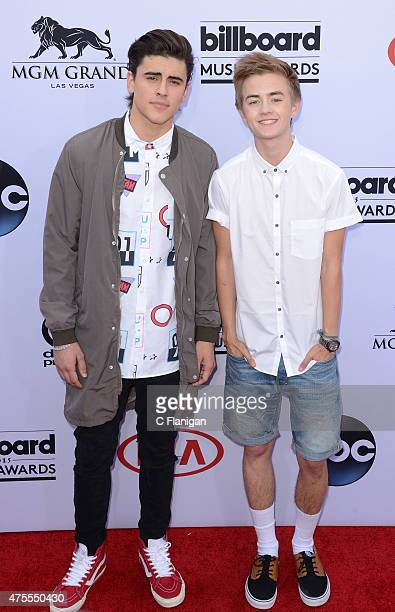 Singers Jack Gilinsky and Jack Johnson of Jack Jack attend the 2015 Billboard Music Awards at MGM Grand Garden Arena on May 17 2015 in Las Vegas...