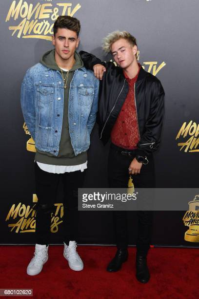 Singers Jack Gilinsky and Singers Jack Johnson attend the 2017 MTV Movie and TV Awards at The Shrine Auditorium on May 7 2017 in Los Angeles...