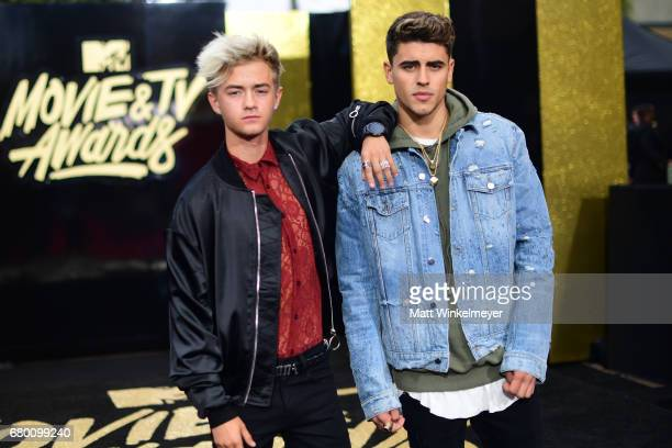 Singers Jack Johnson and Jack Gilinsky attend the 2017 MTV Movie And TV Awards at The Shrine Auditorium on May 7 2017 in Los Angeles California