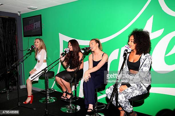 Singers Jade Thirlwall Jesy Nelson Perrie Edwards and LeighAnne Pinnock of British girl group Little Mix performs in the 1035 KISS FM 'Sprite Lounge'...