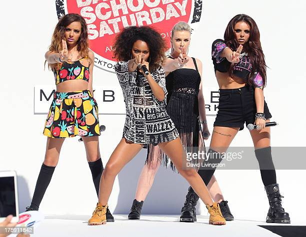 Singers Jade Thirwall LeighAnne Pinnock Perrie Edwards and Jesy Nelson of Little Mix attend the Teen Vogue 2nd Annual Back To School KickOff Party at...