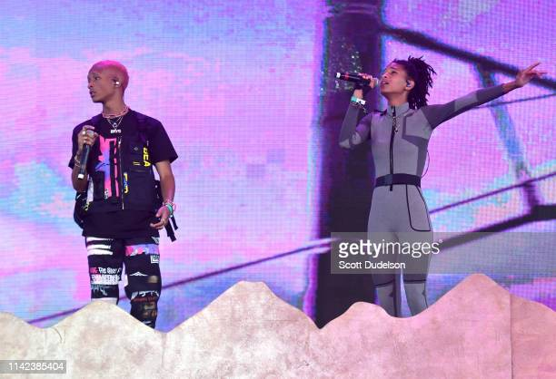 Singers Jaden Smith and Willow Smith perform onstage during Weekend 1 Day 1 of the 2019 Coachella Valley Music and Arts Festival on April 12 2019 in...