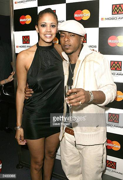 Singers Jamelia and Big Brovaz attend the nominations for the Mastercard Mobo Awards on September1 2003 at Tantra in London The awards will be held...